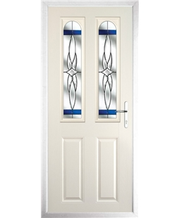 The Aberdeen Composite Door in Cream with Blue Crystal Harmony