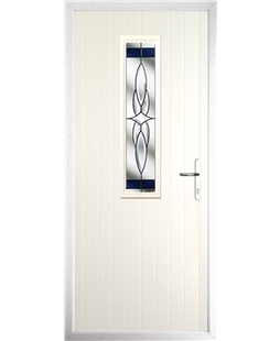 The Sheffield Composite Door in Cream with Blue Crystal Harmony