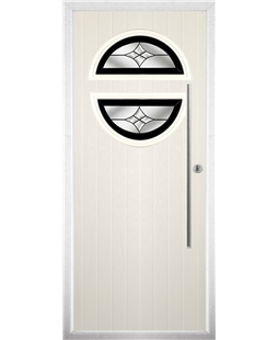 The Xenia Composite Door in Cream with Black Crystal Harmony