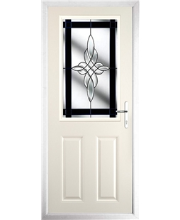 The Farnborough Composite Door in Cream with Black Crystal Harmony