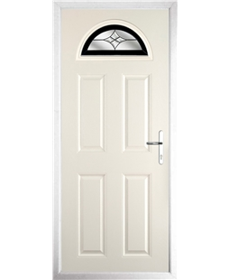 The Derby Composite Door in Cream with Black Crystal Harmony