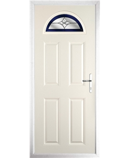 The Derby Composite Door in Cream with Blue Crystal Harmony