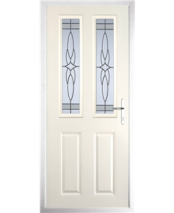 The Cardiff Composite Door in Cream with Crystal Harmony Frost