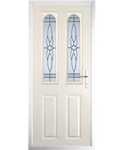 The Aberdeen Composite Door in Cream with Crystal Harmony Frost