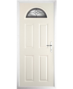 The Derby Composite Door in Cream with Crystal Harmony Frost