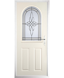 The Edinburgh Composite Door in Cream with Crystal Harmony Frost