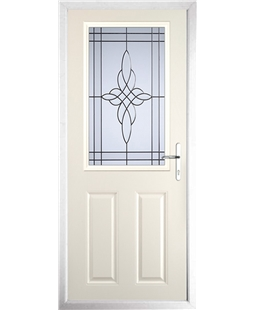 The Farnborough Composite Door in Cream with Crystal Harmony Frost