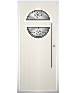 The Xenia Composite Door in Cream with Crystal Harmony Frost