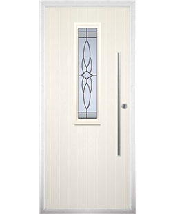 The York Composite Door in Cream with Crystal Harmony Frost