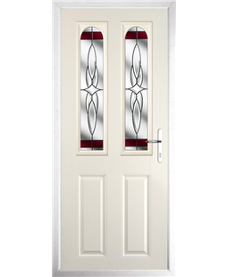 The Aberdeen Composite Door in Cream with Red Crystal Harmony