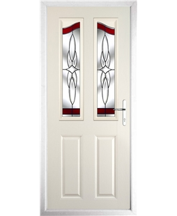 The Birmingham Composite Door in Cream with Red Crystal Harmony
