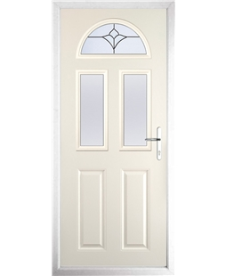 The Glasgow Composite Door in Cream with Crystal Tulip Arch