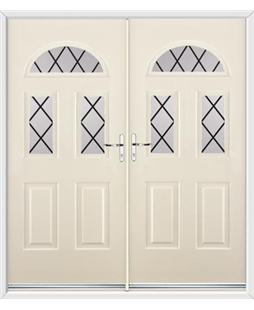 Tennessee French Rockdoor in Cream with Diamond Lead