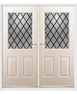 Windsor French Rockdoor in Cream with Diamond Lead