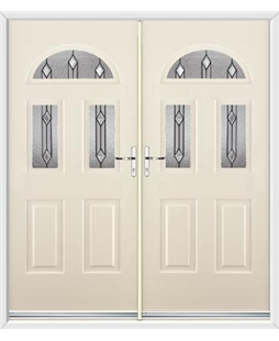 Tennessee French Rockdoor in Cream with Dorado Glazing