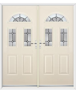 Tennessee French Rockdoor in Cream with Ellipse