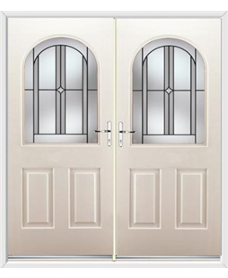 Kentucky French Rockdoor in Cream with Ellipse