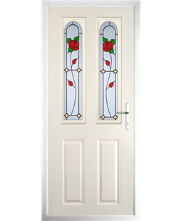 The Aberdeen Composite Door in Cream with English Rose