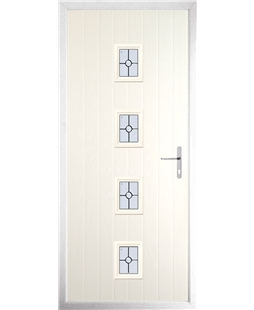 The Uttoxeter Composite Door in Cream with Finesse Glazing