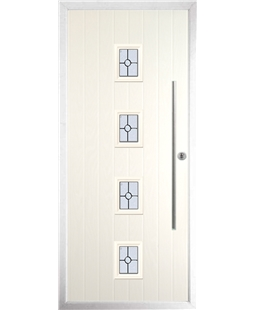 The Leicester Composite Door in Cream with Finesse Glazing