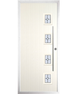 The Norwich Composite Door in Cream with Finesse Glazing