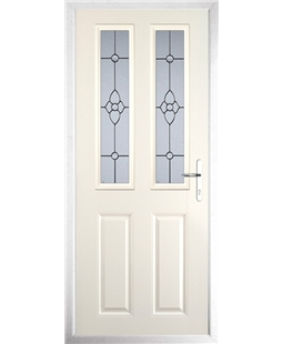 The Cardiff Composite Door in Cream with Finesse Glazing