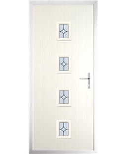 The Uttoxeter Composite Door in Cream with Flair Glazing