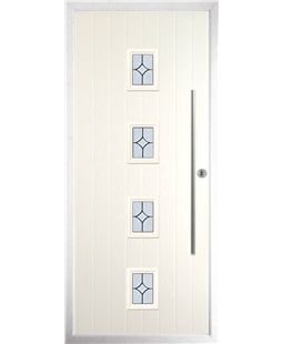 The Leicester Composite Door in Cream with Flair Glazing