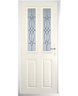 The Cardiff Composite Door in Cream with Flair Glazing