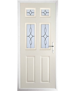 The Oxford Composite Door in Cream with Flair Glazing