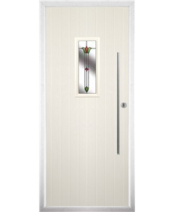 The Zetland Composite Door in Cream with Fleur