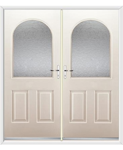 Kentucky French Rockdoor in Cream with Gluechip Glazing