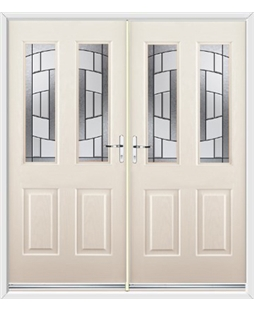 Jacobean French Rockdoor in Cream with Inspire