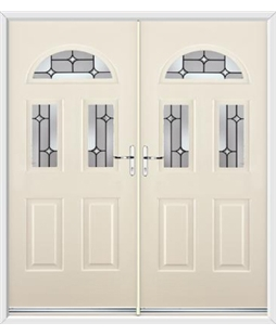 Tennessee French Rockdoor in Cream with Linear