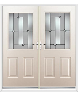 Windsor French Rockdoor in Cream with Linear