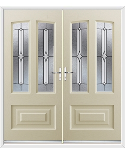 Illinois French Rockdoor in Cream with Pinnacle