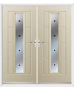 Vermont French Rockdoor in Cream with Quadra