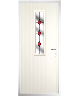 The Sheffield Composite Door in Cream with Red Diamonds