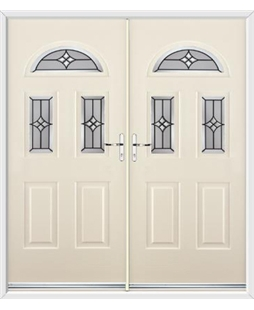 Tennessee French Rockdoor in Cream with Summit