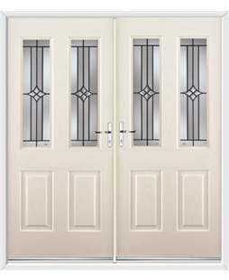 Jacobean French Rockdoor in Cream with Summit