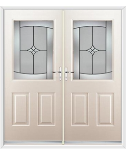 Windsor French Rockdoor in Cream with Summit