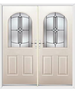 Kentucky French Rockdoor in Cream with Summit