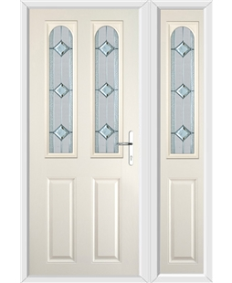 The Aberdeen Composite Door in Cream with Simplicity and matching Side Panel