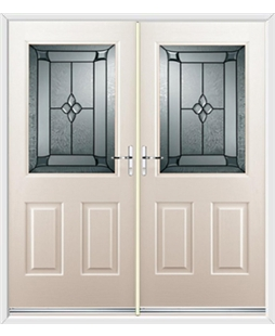 Windsor French Rockdoor in Cream with Titania Glazing