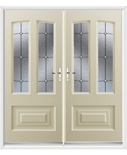 Illinois French Rockdoor in Cream with Trinity