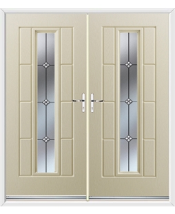 Vermont French Rockdoor in Cream with Trio