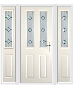 The Cardiff Composite Door in Cream with Simplicity and matching Side Panels