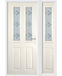 The Cardiff Composite Door in Cream with Simplicity and matching Side Panel