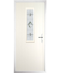 The Sheffield Composite Door in Cream with Crystal Diamond