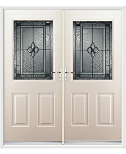 Windsor French Rockdoor in Cream with Triton Glazing